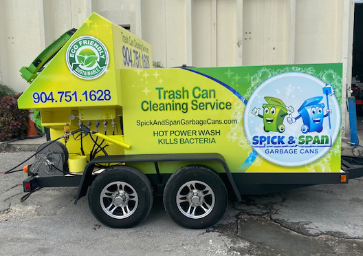 Spick and Span Garbage Can Cleaning Unit